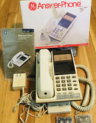 Ge Answer Phone Vintage Wall Model 2-9890 - 12 Telephone Number Memory Vg