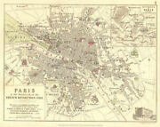 Paris At Outbreak Of Revolution 1789. French Revolutionary Wars 1848 Old Map
