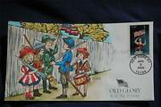 Old Glory Carving Of Woman With Flag And Sword Fdc Hp Collinsd3705 Sc3780