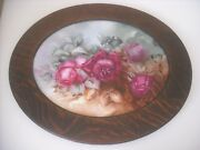 Gorgeous Roses Hand Painted Framed Plaque