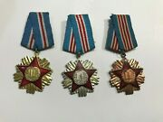 Albania Medal-order Of Military Service 1-2-3 Class Albanian Military Medals