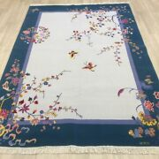 Yilong 5.5and039x8and039 Thick Hand Knotted Wool Rug Chinese Art Deco Carpet Tj003