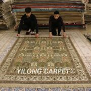 Yilong 6and039x9and039 Four Seasons Handmade Silk Carpet Vintage Hand Woven Porch Rug 214b