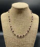 Silpada-sterling Silver Faceted Garnet Bead Station Necklace N1053 1