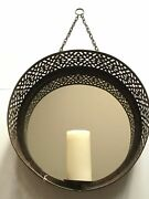 Pottery Barn Wall Mounted Mirrored Pillar Holder New Sold Out At Pottery Barn
