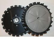 Pair Wheels Rear With Tyre For Robot Ambrogio L210 L200r Deluxe-elite