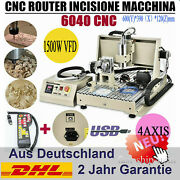 Usb 4axis 6040 Cnc Router Engraver 1.5kw Metal Cutting Mill Drill Machine+remote