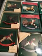 Lot Of 16 Hallmark Rocking Horse Series Ornaments 1981-1996with Original Boxes