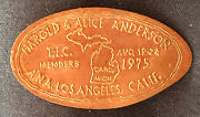Harold And Alice Anderson A.n.a. La, Ca. Elongated Penny On A 1974 D Centel-22