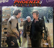 Andrew Lincoln Norman Reedus Autograph Signed 11x14 Photo Actor Walking Dead Psa