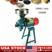 220v 1500w Electric Grinder Dry Feed/flour Mill Cereals Grain Corn Wheat New Usa