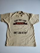 Vintage 80and039s California Save Our Land Nipton Ca Large 50/50 Tan Single Stitch