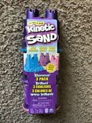 3 Pack Kinetic Sand Single Container Shimmering Sand W/ Sandcastle Mold
