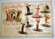 1944 Wwii Victor Records Ad - Perry Como, Lena Horne +