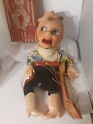 Vtg Rusty The Cowboy Plastic Ventriloquist Marionette Doll Puppet Dummy 50s Old