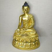 Vintage Tibetan Bronze-plated Buddha 20th Century. There Stamped.