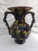 Palissy Majolica. French Antique. Large And Imposing Piece.