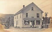 Middlesex Vt Seaver's Store Gas Station Post Office Real Photo Postcard