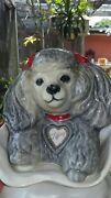 1970s Tiffiny Jim Beam Decanter Bottle Poodle Puppy Gray. Priority Shipping