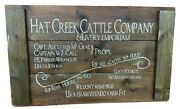 Hat Creek Cattle Company Lonesome Dove Sign Rustic Western Cowboy Decor