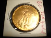 1924 20 St. Gaudens Double Eagle Gold Coin--brilliant Uncirculated Condition