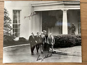 Signed Photo Of Barry Goldwater And Hugh Scott Leaving White House Post Nixon Talk