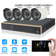 4ch Full 1080p Hdmi Ahd Dvr Recorder Cctv Home Security System 4outdoor Camera