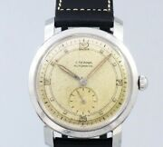 Eterna Small Second Original Dial Automatic Winding Vintage Watch 1950and039s