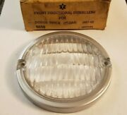 1957-62 Front Directional Signal Lens For Dodge Truck. Clear.  Atlas 9650