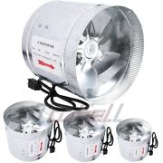 110v Duct Booster Inline Blower Fan Premium Exhaust Vent Air Cooled Hydroponic