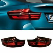 Genuine Led Black Line Smoked Taillights/ Lamps For Bmw X6 E71/e72 2007-2014