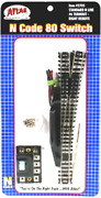 Atlas N 2705  6 Right Remote Standard Switch Track - N Scale Code 80
