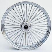 21 X 3.5 Fat Spoke Dual Disc Front Wheel For Harley Flt Touring Baggers 2000-07