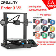 Us Creality Ender 3 V2 3d Printer 220x220x250mm Mean Well Power Supply+filament