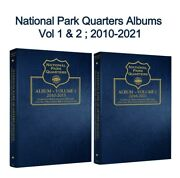 2 National Parks Quarters Pds Vol.1and2 2010-2021 Whitman Coin Albums 3058 And 3059