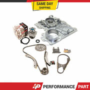 Timing Chain Kit Timing Cover Water Pump Fit 02-07 Gmc Hummer Chevrolet 3.5 4.2