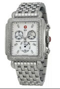 Michelle Deco Women's Chronograph Watch New With Tag Box Papers