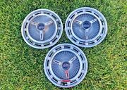 1965 Original Chevrolet Ss Super Sport Hub Caps With Spinners Ref 12-9