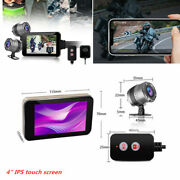 Motorcycle Dvr Camera Gps Logger Dash Cam Wifi Fhd Front Rear View Recorder Box