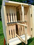 Langstroth Slovenian Az Beehive 20-frames 2 Story With 1- Feeder