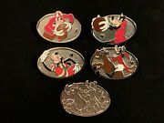 Disney Wdw 2013 Hidden Mickey Sporty Goofy Set Of 5 Pins Includes 1 Chaser Pin