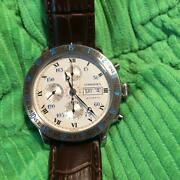 Longines Lindbergh Chronograph Automatic Roman Numerals Stainless Steel Menand039s