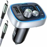 2020 Upgraded Version Fm Transmitter Bluetooth For Car, 36w/6a Free Ship