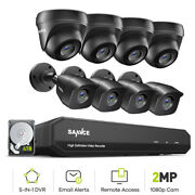 Sannce 8ch 1080p Hdmi 5in1 Dvr Hd 1080p Cctv Camera Night Vision Security System
