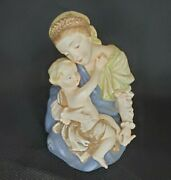 Madonna Mother And Child Lefton Figurine Statuette Kwioin China Hand Painted