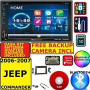 2006 2007 06 07 Jeep Commander Bluetooth Usb Aux Car Radio Stereo W/ Backup Cam