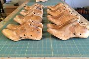 Lot Of Vintage Wooden Shoe Lasts - 8 Pair Of Women's Sizes 4 - 8-1/2 54