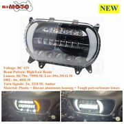 For Road Glide Motorcycle Headlight Dual Led Headlamp Projector Hi/lo Beam 15-20