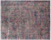 9' 6 X 12' 6 Overdyed Hand Knotted Rug - Q4866