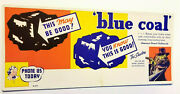 Advertising The Shadow Radio Master Detective On The Air Blue Coal Ink Blotter